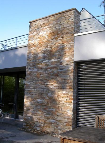 Außenmauer Verkleiden fassadengestaltung mit naturstein