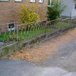 Sanierung einer Mauer - vorher
