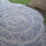 Bodenplatten Blaustein polygonal